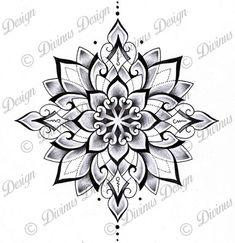 Tribal Geometric Mandala Tattoo Design and Stencil - Instant Digital Mandala Tattoo Design, Dotwork Tattoo Mandala, Geometric Mandala Tattoo, Tattoos Geometric, Mandala Drawing, Half Mandala Tattoo, Paisley Tattoos, Geometric Throat Tattoo, Mandala Sleeve