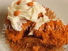 Orange Velvet Cupcakes recipe #cupcake #recipes