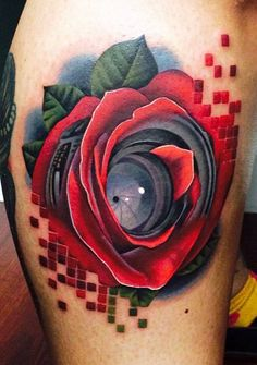 Realism Flowers Tattoo by Andres Acosta | Tattoo No. 12013