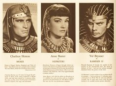 The Ten Commandments (Paramount, 1956). Program (Multiple Pages). Biblical Epic. Directed by Cecil B. DeMille