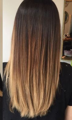 Balayage Ombre Dark To Light Brown To Blonde Hair Color Melt