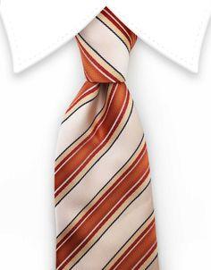 Peach and Orange Striped Tie