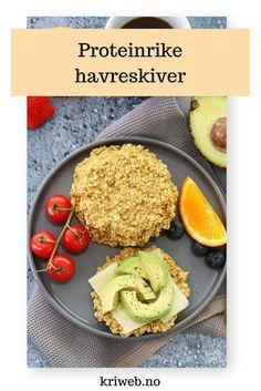 Lag deg noen sunne og proteinrike havreskiver fra Kristine Weber til frokost, snacks eller lunsj! | Sunne snacks | Enkel frokost | Lavkarbo oppskrifter | Enkle oppskrifter | Hverdagsinspirasjon | Sommeroppskrifter