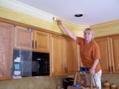 Amazing Hide Soffit Above Kitchen Cabinets By Adding Crown Molding | Kitchen |  Pinterest | Kitchens, Kitchen Soffit And Kitchen Redo