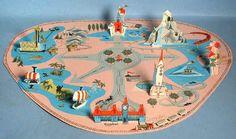 1960's Vintage Disneyland 3 Dimensional Map
