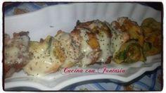 Rotolini di zucchine con crema di merluzzo e formaggio