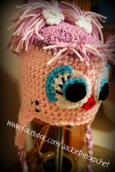 first time creating my own pattern!  Abby Cadabby hat!  custom requests can be sent to my Etsy at www.etsy.com/shop/jackiedye