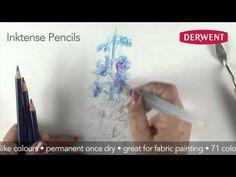Inktense Pencils Speed Drawing - YouTube