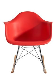Plastic Molded Red Rocking Chair by PARKER MODERN on @HauteLook