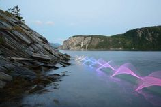 When Light Paintings Capture the Movement of Kayaking, it's Beautifully Fascinating. Photo Stephen Orlando #lightpainting #art #ledlights #kayaking