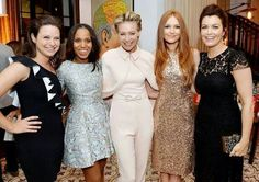 The Ladies of Scandal: (L-R) Katie Lowes, Kerry Washington, Portia de Rossi, Darby Stanchfield, Bellamy Young