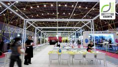 FOOD COURTS! Creativevents pop up restaurant by JAM, London trade fairs restaurant