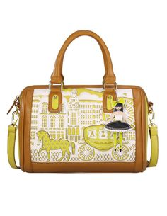 Cut OutLeather Tote Bag