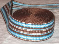 Brown blue and white inkle woven trim by applegirl5 on Etsy