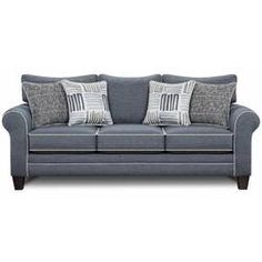 You'll ❤ The Southern Furniture 1140 Sofa Grande Denim Blue Fabric 1140 Grande Denim Sofa Furniture Market, Furniture Deals, Online Furniture, Black Furniture, Sofa Furniture, Furniture Outlet, Sofa Pillows, Sofa Bed, Sofa Upholstery