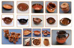 cazuelas de barro, artesanías, ollas, jarros,...