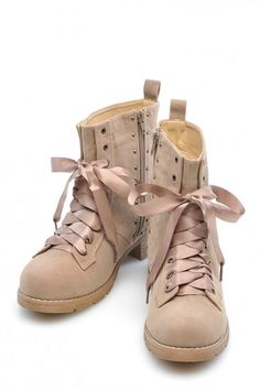 Combat boots made girly. So cute
