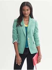 Teal Hacking Jacket | Banana Republic - size 0 (would prefer pink but it's only available in store)