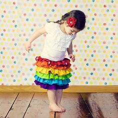 Rainbow Ruffle Skirt for girls by Sweet Sapling