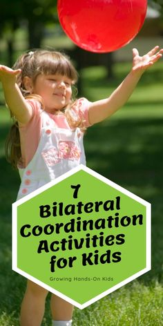 Get 7 fun and easy bilateral coordination activity ideas for kids. Proprioceptive Activities, Gross Motor Activities, Gross Motor Skills, Sensory Activities, Hands On Activities, Infant Activities, Preschool Activities, Sensory Diet, Project Based Learning