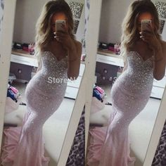 Fashionable Sweetheart Mermaid Prom Dress Long Pink Prom