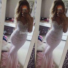 Fashionable Sweetheart Mermaid Prom Dress Long Pink Prom