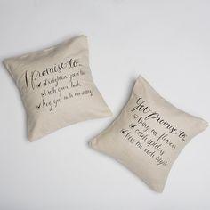 I Promise Pillow Set (2)