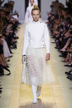 A look from Dior's spring 2017 collection. Photo: Imaxtree.