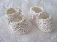 Beautiful Handmade Floral Baby Booties by SweetThingTopperShop, $25.00