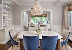 Farrow and Ball Cornforth White dining room