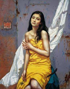 He Lihuai - The Intercept Memory [2013]  #21st #Contemporary He #Lihuai #Painting