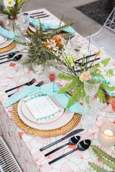 SUSTAINABLE TROPICAL WEDDING IDEAS   Bespoke-Bride: Wedding Blog Wedding Blog, Wedding Venues, Wedding Ideas, Sustainable Wedding, Modern Tropical, Relaxed Wedding, Downtown Los Angeles, Bright Pink, Wedding Designs