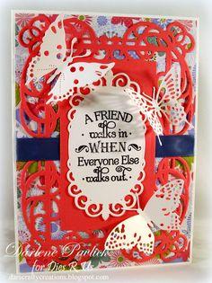 Dar's Crafty Creations: Friends and Butterflies . . .