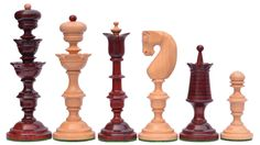 """Reproduced Antique Series Wooden Chess Pieces in Bud Rose & Box Wood - 5.5"""" King http://www.chessbazaar.com/reproduced-antique-series-wooden-chess-pieces-in-bud-rose-box-wood-5-5-king.html"""
