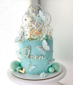 Cake Decorating Frosting, Cake Decorating Designs, Cake Decorating Videos, Birthday Cake Decorating, Cake Decorating Techniques, Elegant Birthday Cakes, Beautiful Birthday Cakes, Gorgeous Cakes, Pretty Cakes