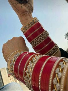 Fulfill a Wedding Tradition with Estate Bridal Jewelry Bridal Bangles, Bridal Jewelry, Gold Jewelry, Jewellery, Indian Accessories, Bridal Accessories, Chuda Bangles, Wedding Chura, Bridal Chuda