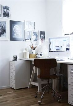IKEA SPOTTED // HELMER drawer units in white, VIKA ARTUR trestle with shelf in white