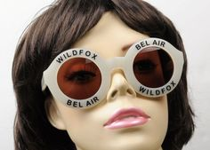 Wildfox Couture New Large Pearl White Bel Air Logo Sunglasses, w/ Sunglass Case #WildfoxCouture #Designer