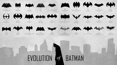 Evolution of the Batman logo (1940-2012) (via https://twitter.com/LauraCarignani1/status/501392185284378624 )