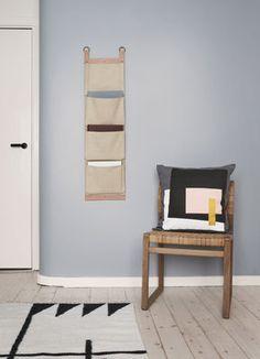 Tapis Kelim Black Lines - Small / 80 x 140 cm Vert foncé & blanc - Ferm Living