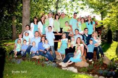 green and turquoise Great color idea for next family photo shoot!
