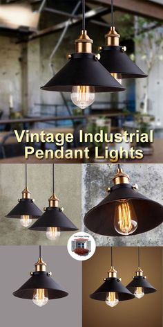 I Love these vintage pendant lights. Nice clean lines beautiful colors and very sturdy. They fit anywhere as kitchen lights living room lights over your dining table and other locations. - Industrial Pendant Lighting - Ideas of Industrial Pendant Lighting Vintage Pendant Lighting, Vintage Industrial Decor, Industrial Pendant Lights, Pendant Lamps, Light Pendant, Living Room Lighting, Kitchen Lighting, Farmhouse Lighting, Mo S