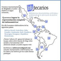 ¡En #InfoTecarios queremos lograr una representación completa de Latinoamérica! Por ello buscamos más colaboradores...