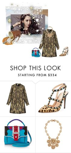 """""""Untitled #1612"""" by angelworlds21 ❤ liked on Polyvore featuring Sania Studio, Valentino, Paula Cademartori and Miriam Haskell"""