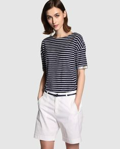 Bermuda de mujer Shorts Outfits Women, Summer Outfits Women, Short Outfits, Spring Outfits, Trendy Outfits, Fashion Outfits, Classy Yet Trendy, Casual Chique, Mature Fashion