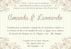 Arte Convite Casamento / Noivado 124