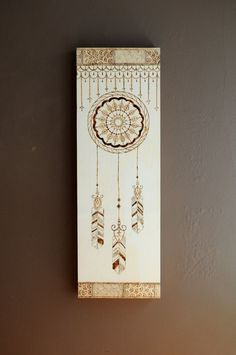 Mandala Dreamcatcher  Wood Burning by SBCreative1 on Etsy, $100.00
