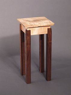 Accent Table/ Small End Table: Handmade Custom Wood Furniture- Mid Century Modern Zen Side Table Cheap Patio Furniture, Custom Wood Furniture, Table Furniture, Cool Furniture, Urban Furniture, Street Furniture, Furniture Projects, Antique Furniture, Furniture Dolly