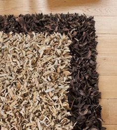 Scrappy Shag Leather Rug - Butter-soft and textured underfoot, this rug delivers a delightful, offbeat floor covering with audacious flair and panache to spare. Made in India. http://www.vivaterra.com/accessories/rugs-mats/scrappy-shag-leather-rug.html