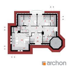 Projekt domu Dom pod juką 2 - ARCHON+ Modern House Design, Case, House Floor Plans, Flooring, How To Plan, Modern, Home Plants, Wood Flooring, Modern Home Design
